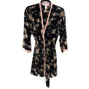 OSCAR DE LA RENTA Pink Label Kimono Wrap Robe
